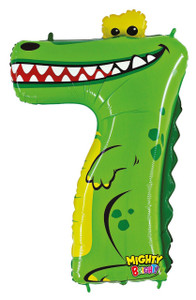 Mighty Number 7 Shaped Crocodile Balloon