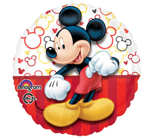 Mickey Portrait Party Balloons, Multicolor, 18 Inch