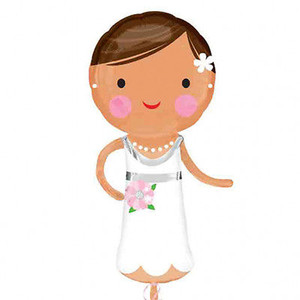 40-Inch Lovely Bride Shaped Balloon