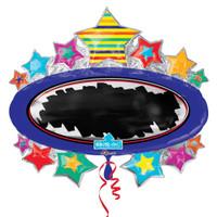 31-Inch Blackboard Write On Star Marquee Balloon