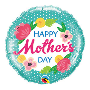 "18"" Happy Mother's Day Polka Dots Balloon"