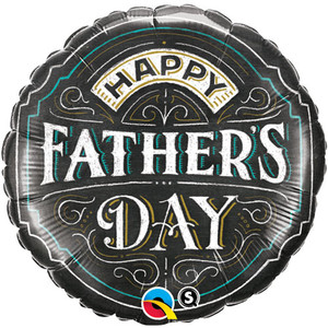 18-Inch Happy Fathers Day Chalkboard Balloon