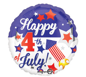 17-Inch Happy 4Th Of July Balloon