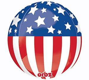 16-Inch Patriotic Orbz Balloon