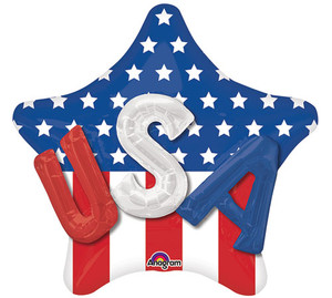 36-Inch Usa On Star Multi-Balloon