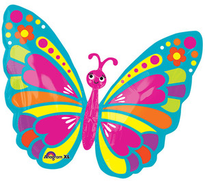 26-Inch Happy Spring Butterfly Shaped Balloon