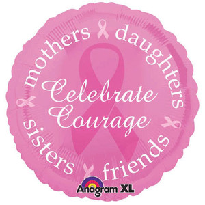 18-Inch Breast Cancer Awareness Round Balloon