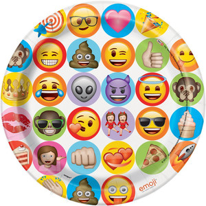 9 Inch Celebration Emoji Plates 8 Count