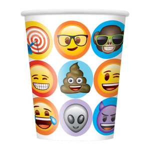 Celebration Emoji 9oz Cup 8 Count
