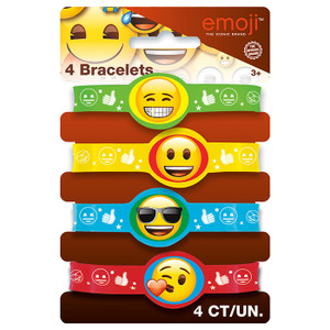 Emoji Stretch Bracelet 4 Count