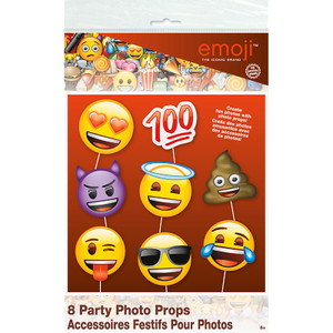 Emoji Photo Props-Faces 8 Count