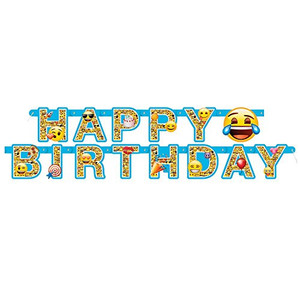 Emoji Happy Birthday Large Jointed Banner