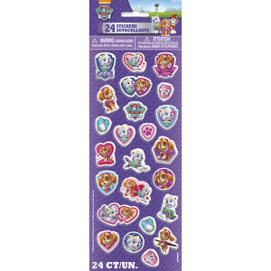 24 Paw Patrol Girl Puffy Stickers