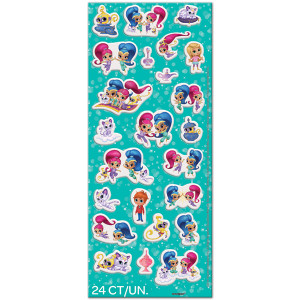 24 Shimmer And Shine Puffy Stickers