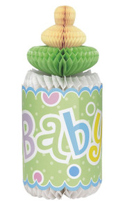 "1 Polka Dots Baby Shower Bottle Honeycomb 12""H"