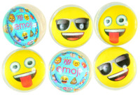 Emoji Bounce Balls 6 Count