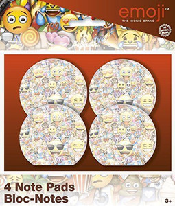 Emoji Note Pads 4 Count