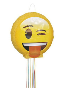Winking/Tongue Out Emoji 3D Pinata