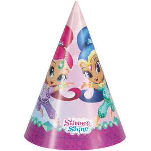 Shimmer & Shine Party Hats 8 Count