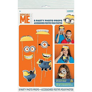 Despicable Me Photo Props 8 Count