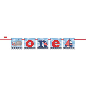 Nautical 1st Birthday Block Banner
