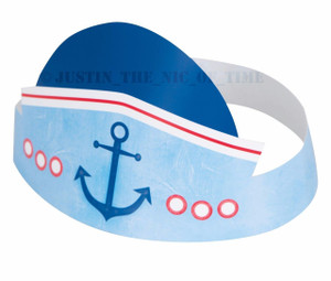 Nautical 1st Birthday Party Hats 6 Count