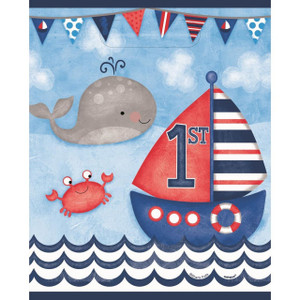 Nautical 1st Birthday Lootbags 8 Count