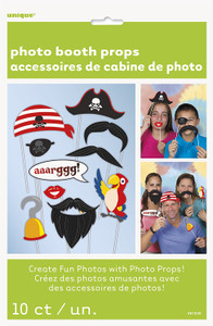 Pirate Photo Props 10 Count