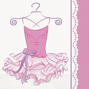 Pink Ballerina Lunch Napkins 16 Count
