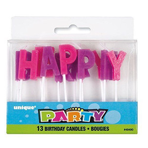 Pastel Happy Bday Letter Pick Candles 13 Count