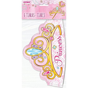 Pink Princess Tiaras 6 Count