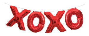 "14-Inch Red ""XOXO"" Letter Balloon Banner Kit"
