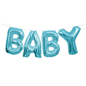 "14-Inch Blue ""Baby"" Letter Balloon Banner Kit"