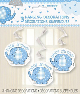 26-Inch Umbrellaphants Blue Hanging Swirls 3 Count