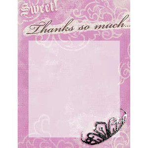 8 Sweet 16 Thank You Notes printable
