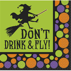 Dont Drink And Fly Beverage Napkins 16 Count