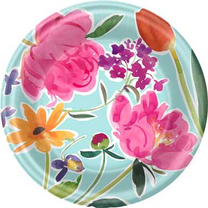 8 Breezy Blooms Dinner Plates