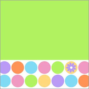 16 Spring Dots Lunch Napkins