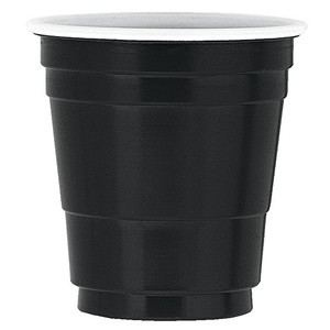 Black Plastic Shot Glasses 20  Count