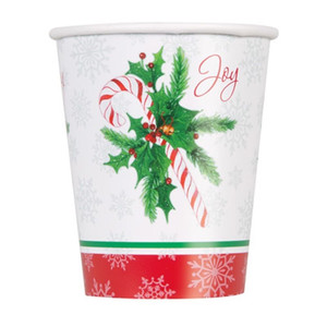 Candy Cane Xmas 9Oz Cups 8 Count