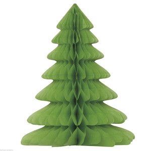 12-Inch Xmas Tree Honeycomb Centerpiece