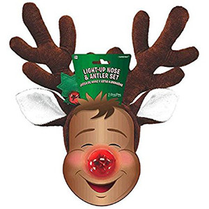 Lightup Nose And Antler Kit