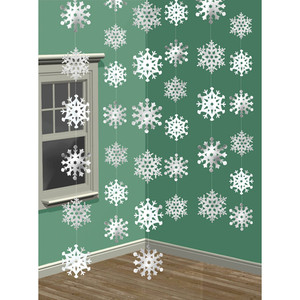 3-D Snowflake String Decorations