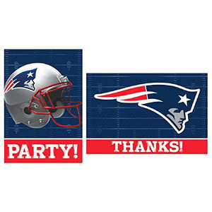 New England Patriots Invitation/Thank You Set