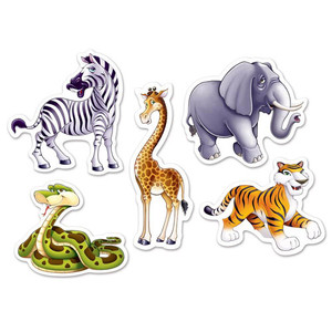 Mini Jungle Animal Cutouts