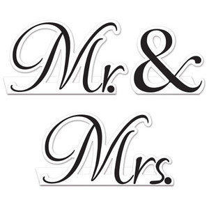 Mr. & Mrs. Table Cards