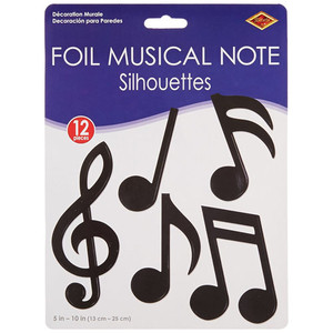 Foil Musical Notes Silhouettes