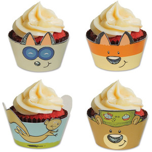 Woodland Friends Cupcake Wrappers