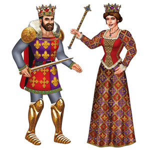 Jointed Royal King & Queen