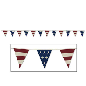 Americana Fabric Pennant Banner